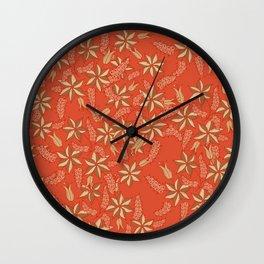 Autumn floral 2 Wall Clock