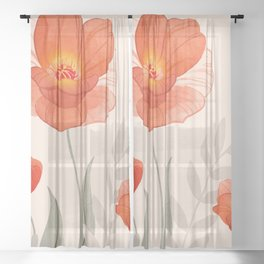 Summer Flowers II Sheer Curtain