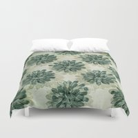 succulents Duvet Covers featuring Succulents by Sandra Arduini