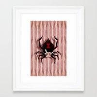 black widow Framed Art Prints featuring Widow by willjames