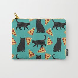 black cat pizza cat lover pet gifts cute cats Carry-All Pouch