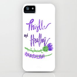 Thistle and Heather iPhone Case