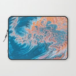 Blue Abstract Art Laptop Sleeve