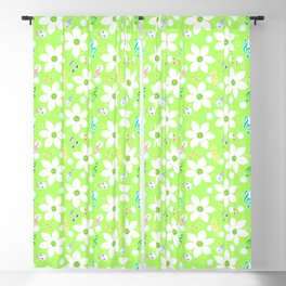 zephyranthes candida white flowers Blackout Curtain
