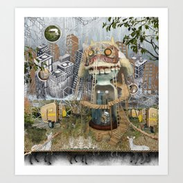 All The While Art Print