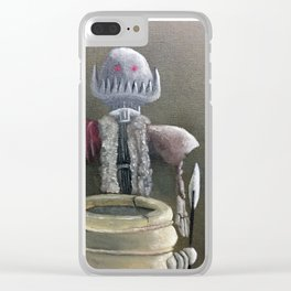 Never Bring a Knife to a Robot Fight Clear iPhone Case