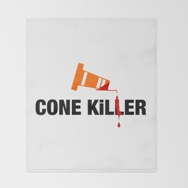 Cone Killer v2 HQvector Throw Blanket
