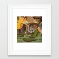 knit Framed Art Prints featuring Knit by Ubik Designs