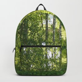 Beautiful Morning Summer Greenery #decor #society6 #buyart Backpack
