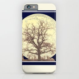Under a Harvest Moon iPhone Case