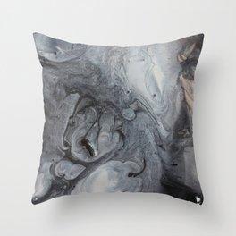 COLR CINZA Throw Pillow