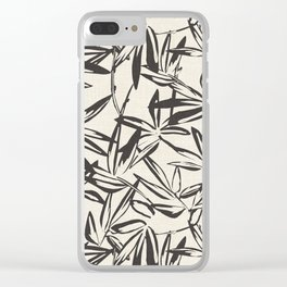 JUNGLIA CHARCOAL Clear iPhone Case