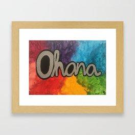 Ohana Rainbow Framed Art Print