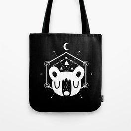 Moon Bear White Tote Bag