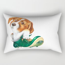 A little dog in a spike Rectangular Pillow