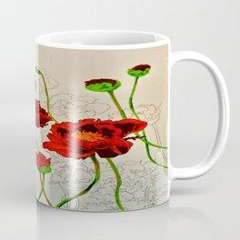 Very Red Flowers Coffee Mug
