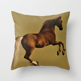 Classical Masterpiece Circa 1762 Racehorse Whistlejacket Rearing Up by George Stubbs Throw Pillow