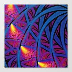 Under The Blue Palm Canvas Print