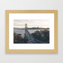 Bay Bridge - San Francisco, CA Framed Art Print