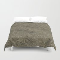 concrete Duvet Covers featuring Concrete by Texture