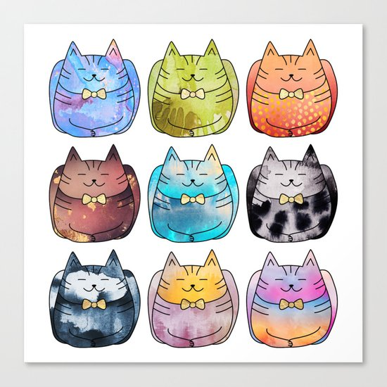 Colorful Cats Canvas Print
