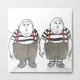 The Tweedles Metal Print