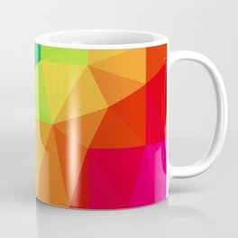 Rainbow Low Poly Coffee Mug