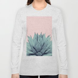 Agave Blush Summer Vibes #1 #tropical #decor #art #society6 Long Sleeve T-shirt