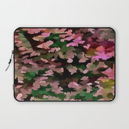Foliage Abstract In Pink, Peach and Green Laptop Sleeve
