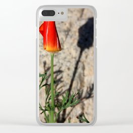 Shadowed Poppy Clear iPhone Case