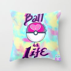 Pokeball is Life Throw Pillow