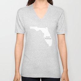 Home is Florida - Florida is home Unisex V-Neck