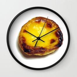 Portuguese custard tart Wall Clock