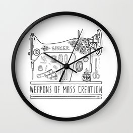 Weapons Of Mass Creation - Sewing Wall Clock
