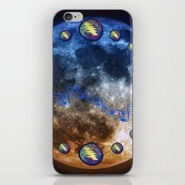 Moon Under Lightning Bolts Spheroid iPhone Skin
