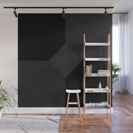 Simply Black on Black Wall Mural