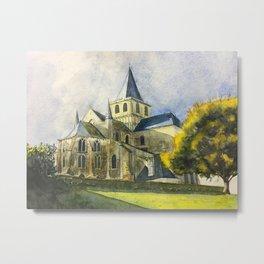 Normandy, France: Abbey of Cerisy Metal Print
