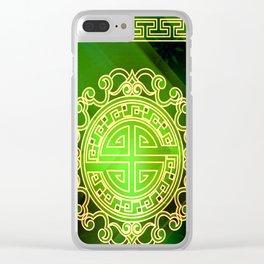 Jade island Clear iPhone Case