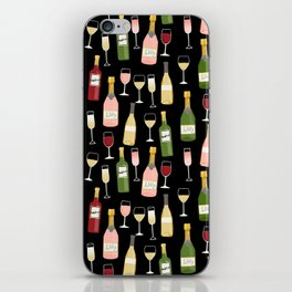 Rose drinks champagne wine bar art food fight apparel and gifts iPhone Skin