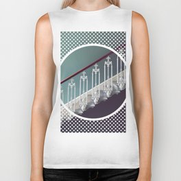 Stairway to heaven - dot circle graphic Biker Tank