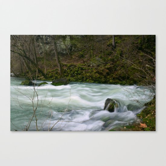 Streaming Waters Canvas Print
