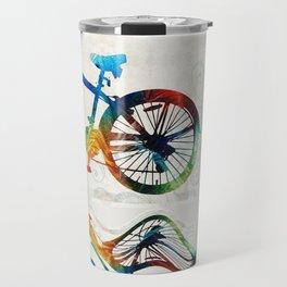 Colorful Bike Art - Free Spirit - By Sharon Cummings Travel Mug
