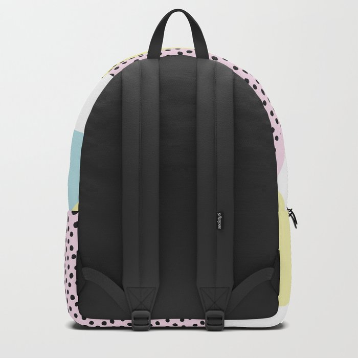 Candy Pink Blue Blobs & Dots Pattern Backpack