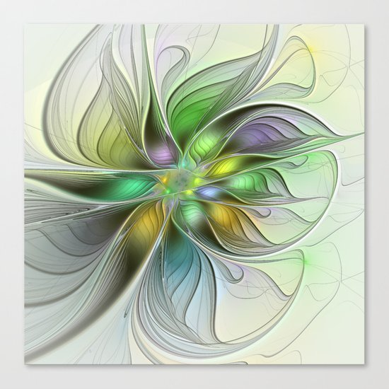 Colors Make My Day, Abstract Fractal Art Canvas Print