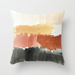 Abstract in Rust n Clay Throw Pillow
