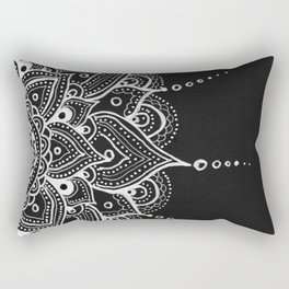 White Mandala Rectangular Pillow