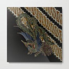Batik Parang Cendrawasih Metal Print