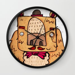 The Grizzly Gentleman Wall Clock