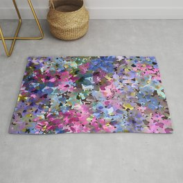 Little Blue Delphiniums Rug