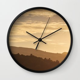 Hills at sunset in the Lake District, England Wall Clock